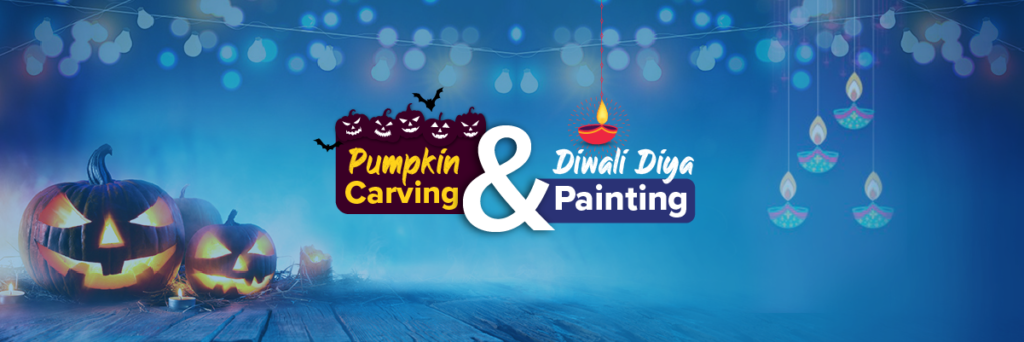 Pumpkin Carving & Diwali Diya Painting - Post Banner