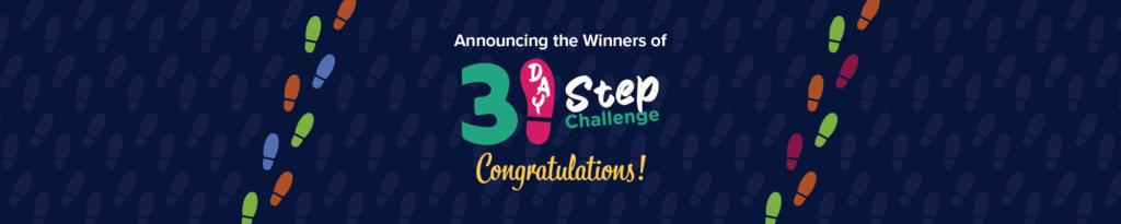 31 day step challenge - Winner Banner