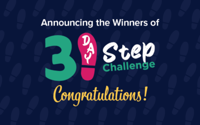 31 day step challenge - Winner Banner