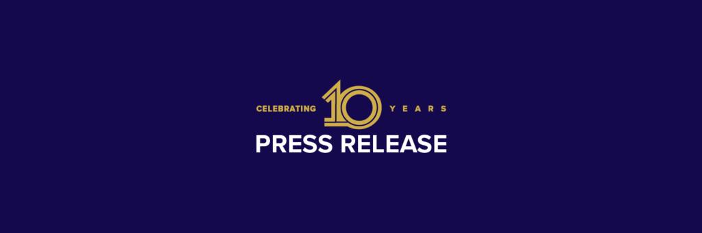 10th Anniversary - Press Release Banner