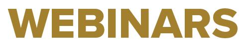 WEBINAR newsletter banner